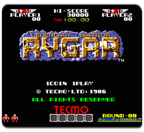 Rygar Logo Mouse Pad Arcade Video Games Atari Lynx NES