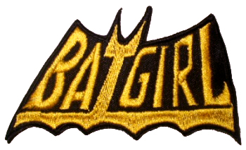 Batgirl Logo http://www.ebay.com/itm/BATGIRL-Logo-Embroidered-Patch-Batman-Adam-West-1966-/120709029054