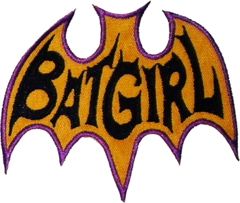 Batgirl Logo http://www.ebay.com/itm/BATGIRL-Series-Logo-Embroidered-Patch-Batman-Adam-West-1966-/110873344256