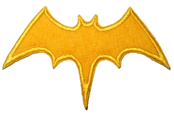 Batgirl Logo http://www.ebay.com/itm/BATGIRL-Logo-Suit-Embroider-Patch-Batman-Adam-West-1966-/120709027336