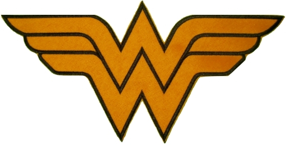 Wonder Woman Logo http://www.ebay.com/itm/WONDER-WOMAN-Big-Logo-Embroidered-Patch-Justice-League-Super-Friends-Powers-/110960018596